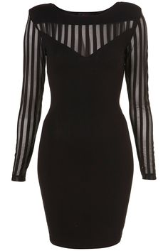 Black striped dress (BK) Perfect vintage~
