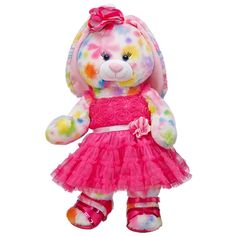 Genial Perfectly Pink Pretty Petals Bunny   Build A Bear Workshop US