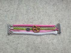 Trachtenarmband, pink, grün von meiTherese auf DaWanda.com