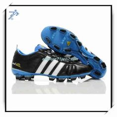 online retailer 8896e 2b5fd Id Design Football Shoes Uchida 11Pro 2 Adidas Adipure IV Trx FG Black  White Blue