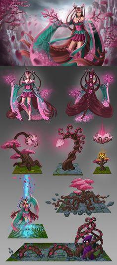 Zyra - Sakura kimono concept by Equifox