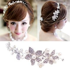 Hot Simulated Pearl Bridal Hair Accessories Combs Tiaras Hair jewelry Wedding Jewelry Wedding Accessories ** Check out the image by visiting the link. Wholesale Hair Accessories, Flower Hair Accessories, Wedding Hair Accessories, Wedding Jewelry, Bridal Tiara, Headpiece Wedding, Bridal Headpieces, Pearl Bridal, Wedding Hair Flowers