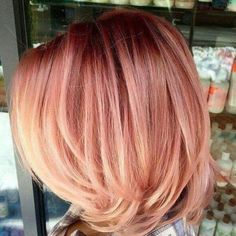 deep roots into a rose gold. The cut is cute!