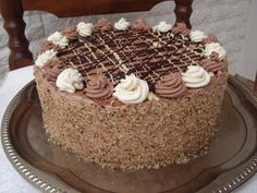 Torte Cake, Fudge Cake, Brownie Cake, Poke Cakes, Lava Cakes, Custard Cake, Hungarian Recipes, Hungarian Food, Gingerbread Cake