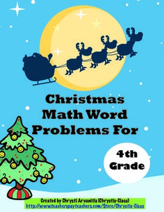 This 53 page resource will keep your students engaged during the holidays as they solve word problems about Santa that becomes a fun story. There are 12 self-checking task cards along with games, activities, worksheets, posters, and more. All printables come in a choice of color or black and white.  Grades 2, 3, and 5 are also available. $