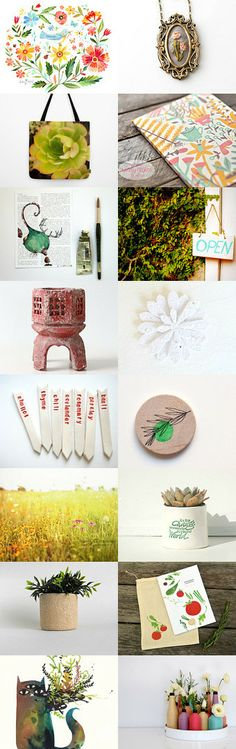 at the garden center by Sharon on Etsy--Pinned with TreasuryPin.com