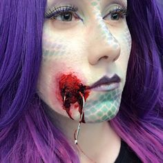 Mermaid with hook special effects makeup