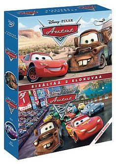 Autot 1+2 DVD-boksi 6,99