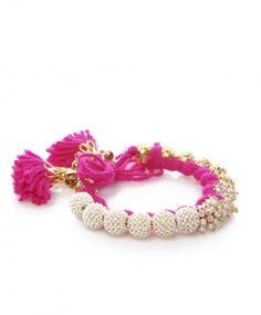Pink Baby Pearl Tassel Bracelet