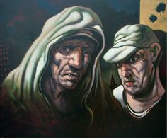 Hood by Peter Howson : Art Company Scotland : Scottish contemporary art from the most celebrated Scottish artists