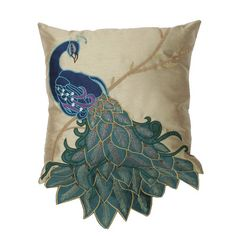 Shop for peacock at Bed Bath & Beyond. Buy top selling products like Thro Fancy Peacock Throw Pillow Collection and Courtside Market Blue Peacock Gallery Canvas Wall Art. Peacock Colors, Peacock Feathers, Peacock Decor, Peacock Design, Peacock Blue, Peacock Pillow, Gold Backdrop, Applique Pillows, Sequin Pillow