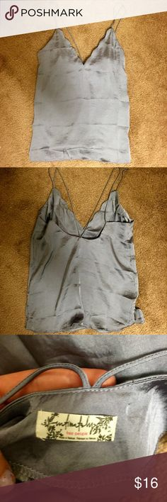 Free People Silky Cami (Small) Grayish purple silky cami by free people intimates, only worn twice!!! ☀️ Free People Tops Tank Tops