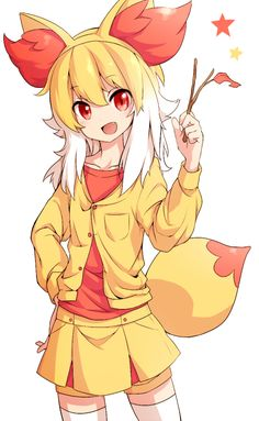 human version gijinka pokemon, fennekin