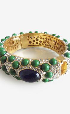 Angelique de Paris Blue And Green Pave Bracelet