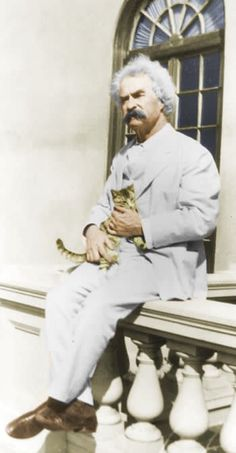 Mark Twain quotations - Vivisection Men With Cats, Cat People, Mark Twain, Celebs, Celebrities, Celebrity Photos, Painting Inspiration, Animals And Pets, My Friend