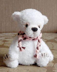 Вязаные Тедди Медведи: Просто белый мишка