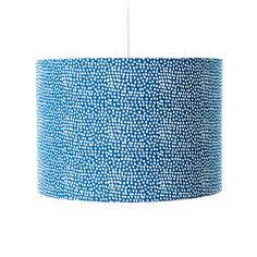 Dot Cotton Drum Pendant Shade House Additions Shade Colour: Sky Blue, Size: 21 cm H x 40 cm W x 40 cm D