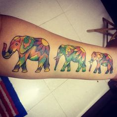 elephant tattoo idea for me and my two girls