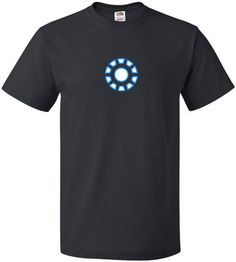 Ironman Arc Reactor mens black tshirt - upto size 5xl - worldwide delivery