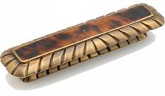Schaub and Company | 852-PEN/ED | Estate Dover with Tiger Penshell | Cabinet Hardware > Cabinet Pulls/Handles