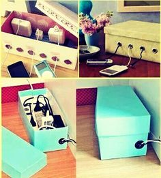 Easy Cute way to hide wires!