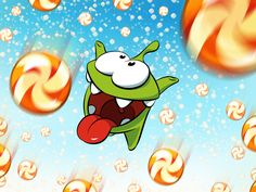 Om Nom wants to help you make someone's day sweeter by sharing some of his candy! Repin and to send your friends this piece of virtual candy!