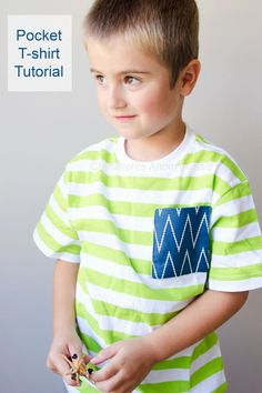 Sew a little pocket into your life with this easy tutorial. Remake a t-shirt for a new gift!