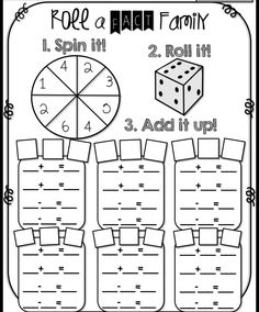 Fact Families Worksheets First Grade Subtraction - Fun Stuff