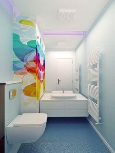 Bathroom Colors, Rainbow Colors, Design Projects, Bathtub, Colours, Interior Design, Standing Bath, Nest Design, Bathtubs