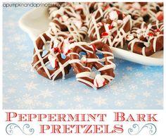 Pepperming Bark Pretzels by A Pumpkin & A Princess