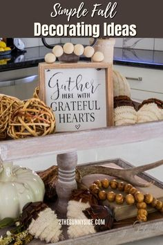 Need some inspiration for fall decor ideas for your home? Get some ideas and decorating tips here! Refresh your home with rustic, fall decor ideas in harvest hues for your living room, walls