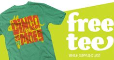 FREE T-Shirt at Moe's Southwest Grill on May 5th on http://hunt4freebies.com