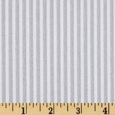 Riley Blake Silver Sparkle Stripe Silver Fabric
