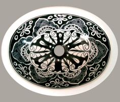 #086) MEDIUM 17x14  ($110)MEXICAN BATHROOM SINK CERAMIC DROP IN UNDERMOUNT BASIN #Talavera #Sinks
