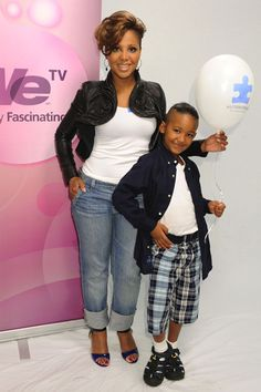 Toni Braxton and son Diezel you guys rock and look beautiful