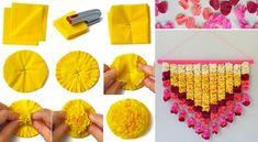 is part of Tissue paper flowers - DIY Paper Flowers Tissue Flowers, Paper Flowers Diy, Flower Crafts, Diy Paper, Paper Crafting, Fabric Flowers, Paper Art, Tissue Poms, Paper Flower Garlands