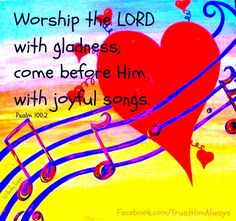 """#HappySabbath  Psalm 100:2 """"Worship the LORD with gladness; come before him with joyful songs."""" http://www.sdahymnal.net/"""