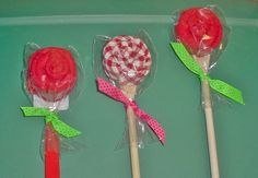 Ready to ship Roses made from dish cloths,w/wooden spoons & spatulas. Cute party favors for wedding shower, birthday  etc.. $3.50, via Etsy.