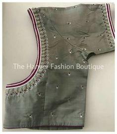 Brocade Blouse Designs, Wedding Saree Blouse Designs, Pattu Saree Blouse Designs, Designer Blouse Patterns, Hand Work Blouse Design, Simple Blouse Designs, Stylish Blouse Design, Blouse Neck Designs, Embroidery Neck Designs