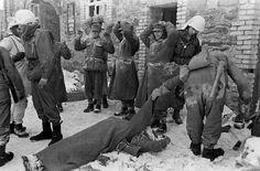 Germans surrender during the Battle of the Bulge.