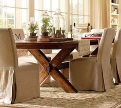 rustic kitchen table- thinking this is why I couldn't find a table I like! I think I want something more like THIS!?!