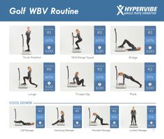 Whether you're interested in improving your swing or alignment, or in strengthening your entire body for more powerful shots, whole body #vibration #exercises can be an excellent tool for #golf players.