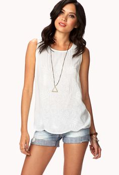 Embroidered Botanical Top | FOREVER21