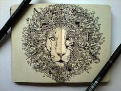 """""""doodle art"""" - Kerby Rosanes it is my life's dream to be able to """"doodle"""" like this."""