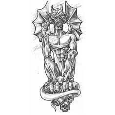 1000 images about demon tattoo designs on pinterest tattoos and body art skulls and heaven. Black Bedroom Furniture Sets. Home Design Ideas