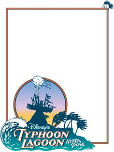"""Typhoon Lagoon - Project Life Disney Journal Card - Scrapbooking. ~~~~~~~~~ Size: 3x4"""" @ 300 dpi. This card is **Personal use only - NOT for sale/resale** Logos/clipart belong to Disney."""