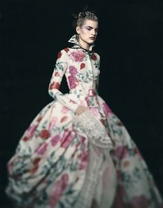 Paolo Roversi, Guinevere in a Christian Dior Haute Couture Dress, Paris, 1996.