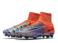 newest 683e0 a2dd5 Nike Football X EA Sports Mercurial Superfly FG Cramoisi total Chaussure  Nike Pas cher De football à crampons pour terrain sec pour Homme Orange