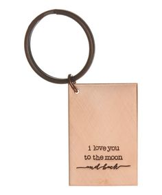 Copper 'I Love You to the Moon' key chain