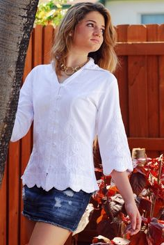 """Lirome Black, Coffee, Denim, Red, White Organic Cotton Embroidery Ball """"zaira"""" Blouse Top. Button Down Shirt. Get the lowest price in town on this fabulous Lirome Embroidered Boho Cottage Chic button-down shirt in Black, Coffee, Denim, Red, White and other colors too! Tradesy makes designer fashion affordable and fun. Shop now"""